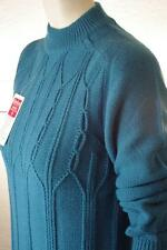 Pulli NOS Damen Pullover 80er True Vintage 80s Qualitäts Fasern 38 blau DRALON