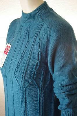 Pulli Nos Strick Pullover Qualitäts Fasern Dralon Blau 70er True Vintage 70s Ovp