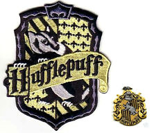 FINE BRITISH EMBROIDERED HARRY POTTER 2-PATCH SET: House of Hufflepuff HOGWARTS