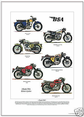 BSA Gold Star Motorcycle A3 Size Limited Edition Print