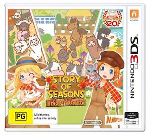 Details about Story of Seasons Trio of Towns Farming Life Simulator Sim  Game Nintendo 3DS 2DS