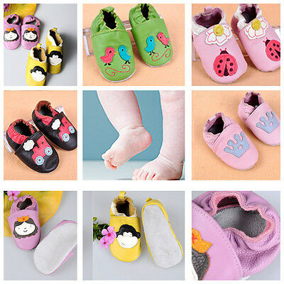 New Genuine Premium soft Leather baby girl boy Toddler shoes 0-6-12-18-24 months