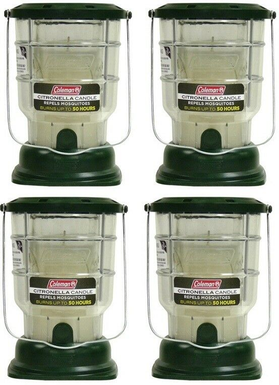 (4) ea Coleman 7708 40 Hour Burn Time Mosquito Repellent Citronella Candle