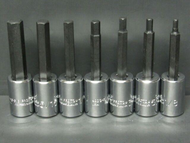 6-Piece Stanley Proto J5441-SM 1//2-Inch Drive Metric Hex Bit Set
