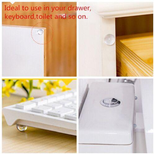 100PCS Self Adhesive Rubber Feet Clear Semicircle Bumpers Door Buffer Pad HOT .M