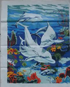 Details Zu Malen Nach Zahlen Fertig Gemalt Unter Wasser Delfine 40 X 50 Cm