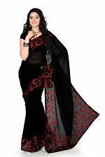 Bollywood Saree Ethnic Indian Designer Party Wedding Sari with Blouse(1170)