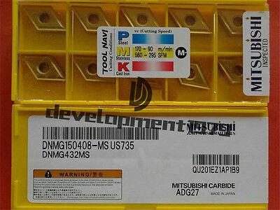 Mitsubishi DNMG150404-MS US735 DNMG431MS 10Pcs CARBIDE INSERTS cnc tools