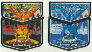 2018-NOAC-Scout-Patch-Collectors-Facebook-Two-Piece-Fire-amp-Ice-OA-Flap-Set