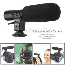 3.5mm Direction External Microphone For Canon Nikon DSLR Camera DV Camcorder