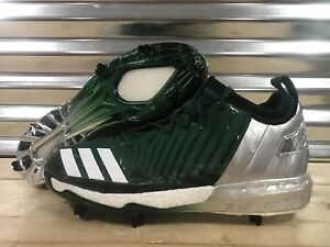 bd8cfa47e8e Adidas Boost Icon 3.0 Metal Baseball Cleats Green Silver White SZ ...