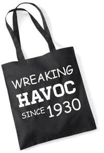 87th Geburtstagsgeschenk Einkaufstasche Baumwolle Neuheit Tasche Wreaking Havoc