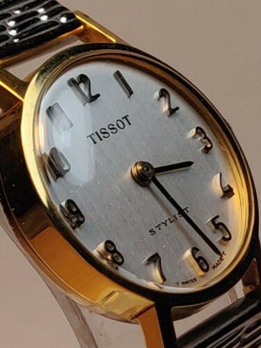 Tissot styliste Swiss made vintage 17 bijoux femmes 20 µ Plaqué or Montre