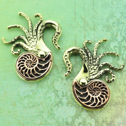 Nautilus Brass Ear Weights Hangers Gauges