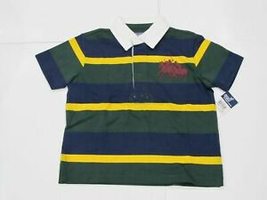 New-tag-Boys-RALPH-LAUREN-Navy-Blue-Green-Short-Sleeve-Polo-Shirt-S-M-L-Big-Pony