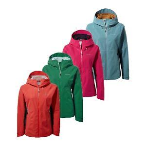 Craghoppers Haidon Womens Lightweight Hooded Waterproof Jacket Rain Coat RRP 100