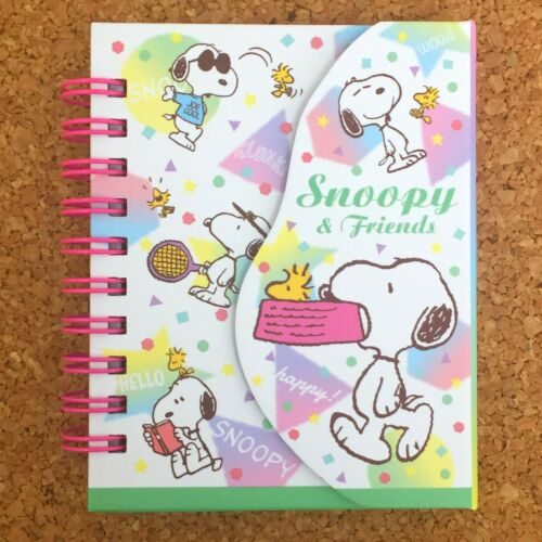 PEANUTS SNOOPY Mini Ring Notebook With Magnet Pastel Memo Pad