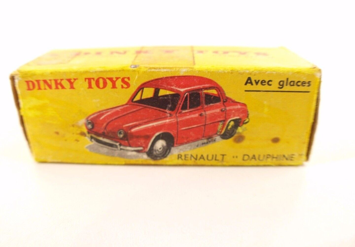 Boite seule Dinky giocattoli F n° 524 renault Dauphine scatola only