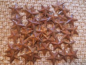 Lot Of 100 Rusty Barn Stars 1 5 Inch Rustic Primitive Country Rusted