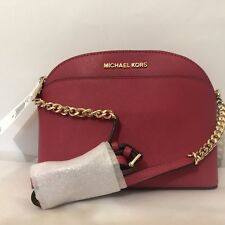 c324ca8d831d item 3 Michael Kors EMMY Small Dome Satchel & Crossbody Cherry Red Leather  Handbag NWT -Michael Kors EMMY Small Dome Satchel & Crossbody Cherry Red  Leather ...