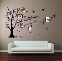 Xlarge Family Genealogical Tree Birds Wall Vinyl Sticker Art Photo Frame Bedroom
