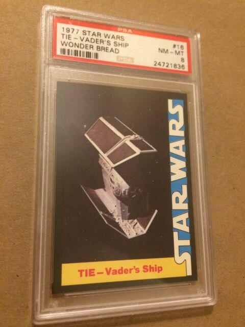 1977 Star Wars Wonder Bread Darth Vader Ship Tie Fighter #16 PSA 8 Clean & Sharp