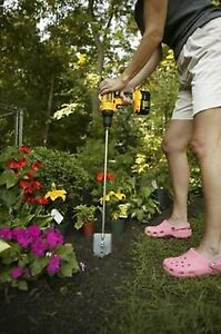 garden auger drill bit. Bulbo-De-Planta-pesto-plantador-Jardim-Auger-Roto- Garden Auger Drill Bit