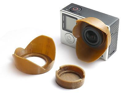 Sonnenblende Lens Hood f. GoPro HERO 3, 3+, 4  Sun Shade Cap Linse Schutz Brown