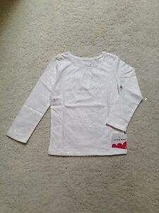 New-White-Long-Sleeve-Silver-Sparkle-T-Shirt-Girls-Toddler-2T-3T-4T-4-5-6-6x-7
