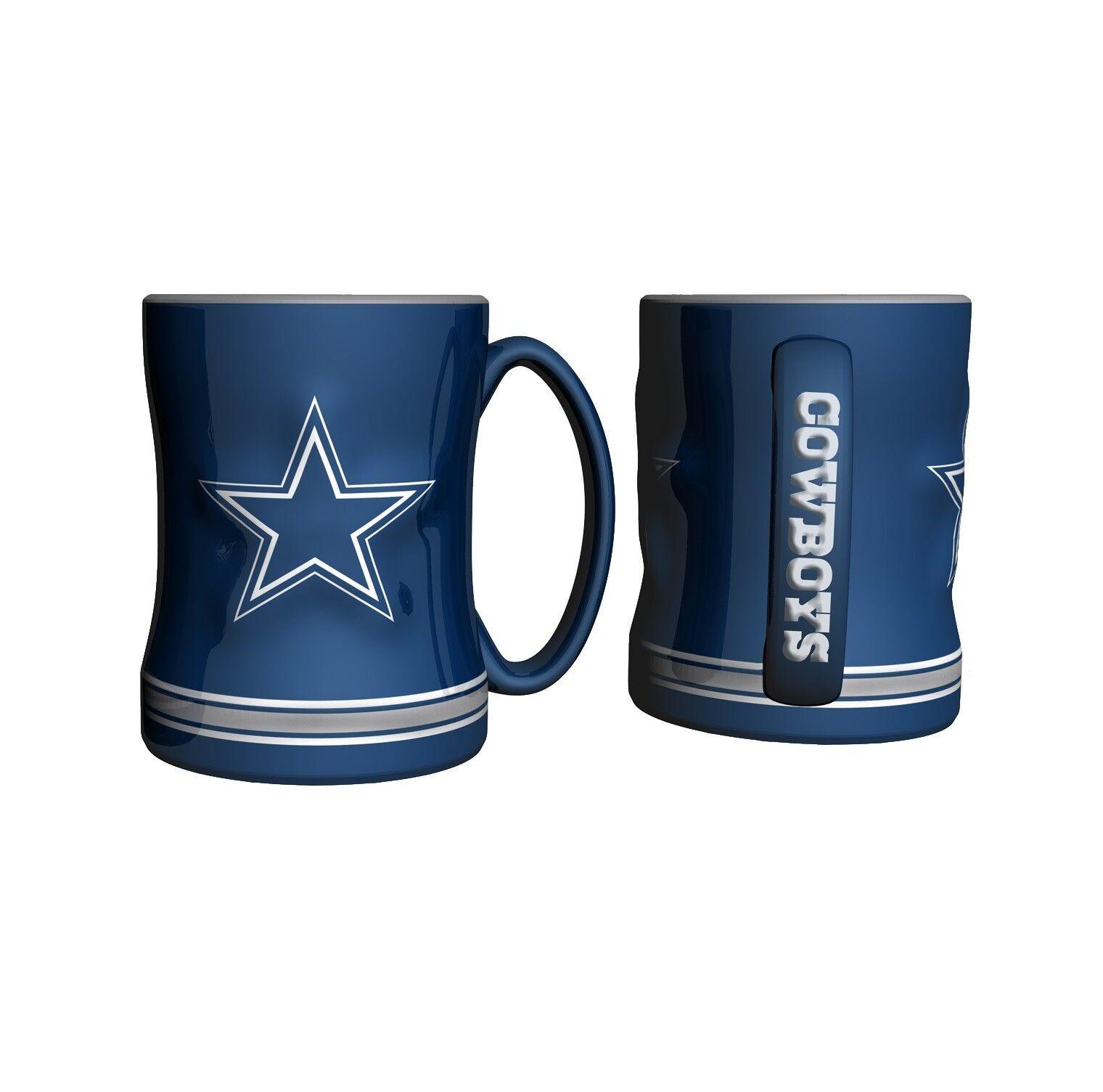 13122f8df 2015 Dallas Cowboys Sculpted Logo Coffee Mug Boelter Brands 14oz for ...
