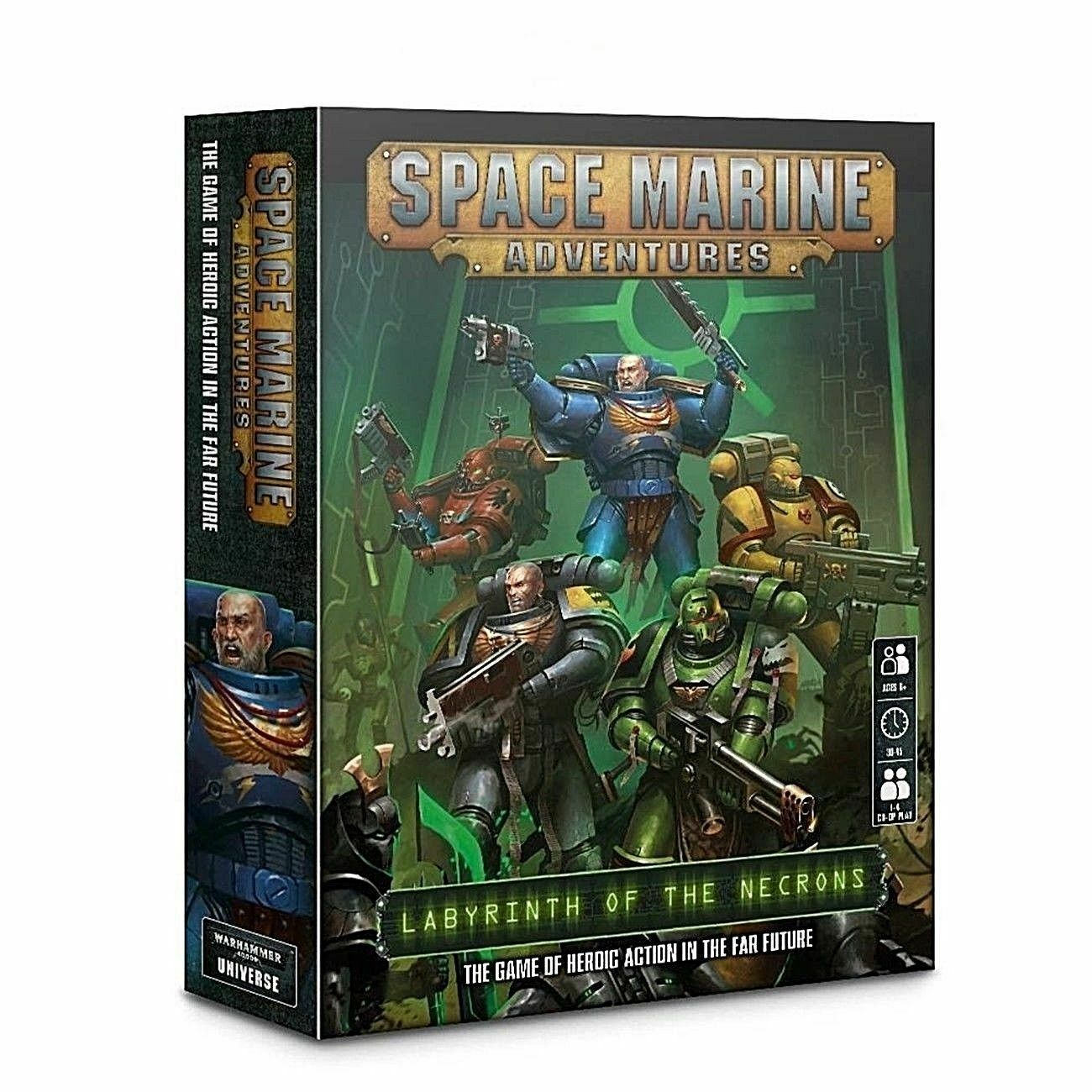 Space Marine warhammer 40k aventures  Labyrinthe de la NECRON BOARD GAME NEUF  sortie de marque
