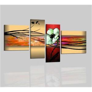 Quadri dipinti a mano su tela moderni astratti fiori for Quadri moderni fiori dipinti a mano
