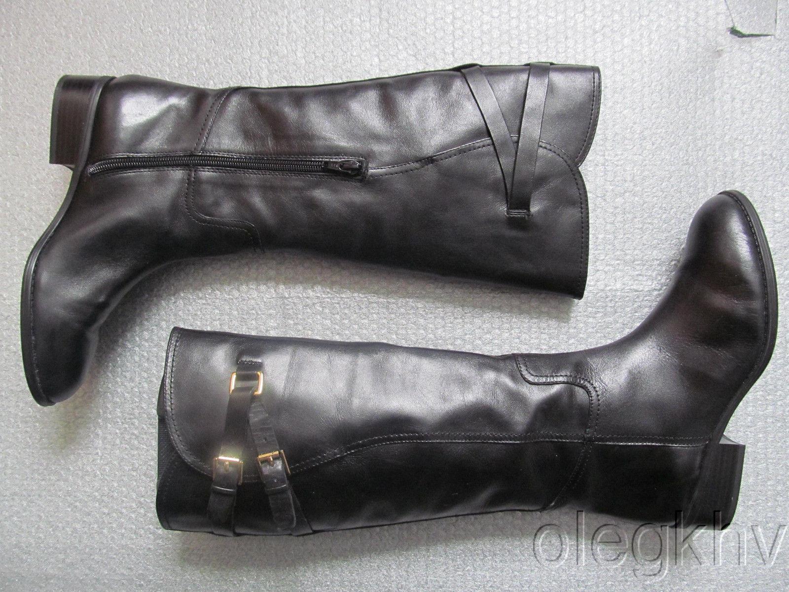 NWB Ralph Lauren Maren Burnished Calf Leather Boots  size 6.5