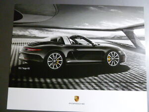 2015-Porsche-911-Targa-4S-Showroom-Advertising-Sales-Poster-RARE-Awesome-L-K