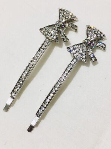 2 strass cristal élégant Kirby Bobby Diapositive Poignées Clip épingle à cheveux Cheveux Bob Pins