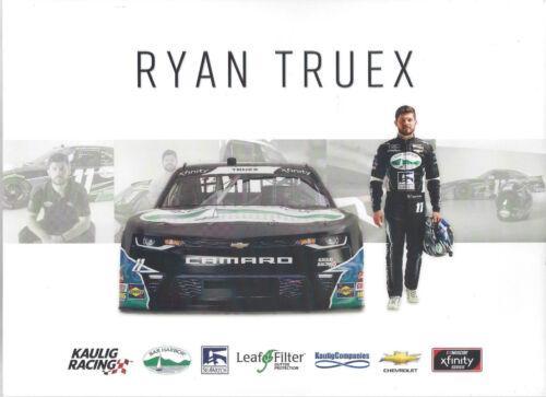 """2018 RYAN TRUEX /""""BAR HARBOR LEAF FILTER/"""" #11 NASCAR XFINITY SERIES POSTCARD"""