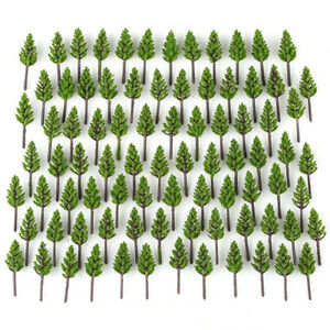 100pcs-Pack-Model-Pine-Trees-Deep-Green-For-N-Z-Scale-Street-Layout-38mm-New