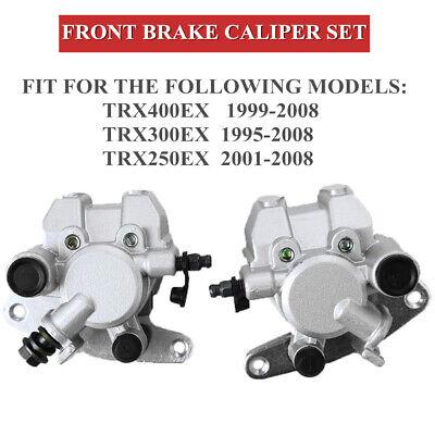 Front Pair Brake Caliper Set For Honda TRX 400EX TRX 300EX TRX 250EX Left Right