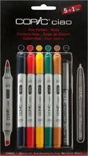 COPIC CIAO PENS - 5 + 1 HUES SET - GRAPHIC ART MARKERS + FINELINER