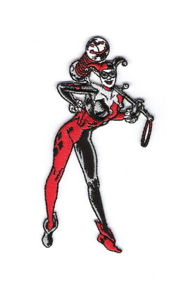 Harley Quinn Standing Figure Embroidered Iron On Patch Batman New Unused Harmonious Colors