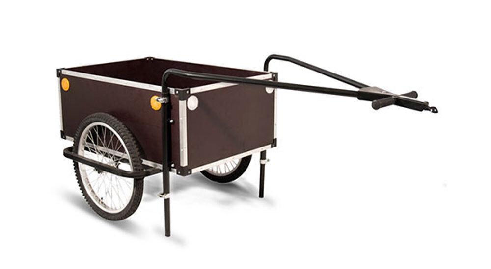 ROLAND Jumbo Fahrrad Anhänger mit Doppeldeichsel Kupplung 20 Zoll Lastenanhänger