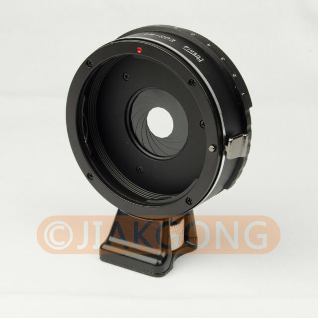 Build in Aperture Canon EOS EF Lens to Micro 4/3 M4/3 With Tripod Mount Adapter