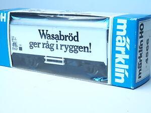 4566-MARKLIN-HO-gauge-Swedish-Wasabrod-transport-box-car-SJ