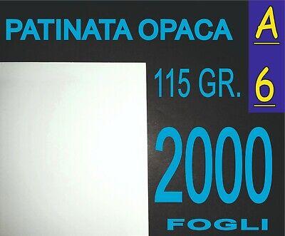 2019 Moda 2000 Ff A6 Carta Patinata Opaca Stampanti Laser Volantini 115 Gr Ricambio Senza Costi A Qualsiasi Costo
