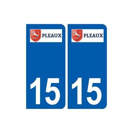 15 Pleaux logo ville autocollant plaque sticker arrondis