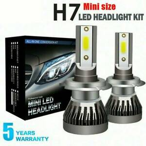 2X-H7-LED-Headlight-COB-Chips-Bulbs-Canbus-Error-Free-110W-30000LM-White-6000K