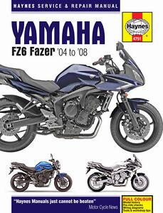 Haynes-Manual-4751-for-Yamaha-FZ6-Fazer-04-08-workshop-service-repair