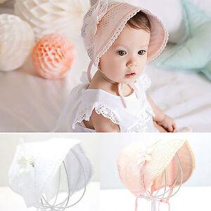 81caa9c02e1 Newborn Infant Beach Bucket Hat Baby Girl Boy Sun Summer Cap Lace ...