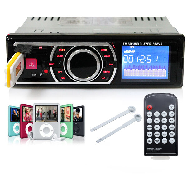 SD/USB Input Car Audio In Dash FM Radio Stereo MP3 Player Receiver with Remote