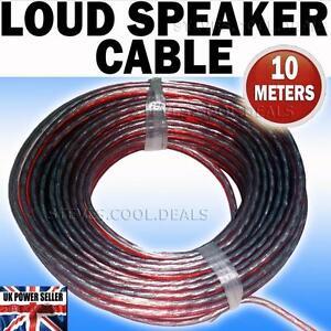 10 meters speaker cable wire car audio hi fi surround. Black Bedroom Furniture Sets. Home Design Ideas